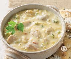 This hearty, 30-minute chicken and rice soup ups the flavor factor ...