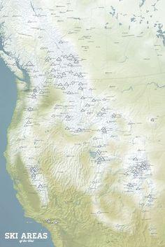 Worksheet. Northeast Ski Resorts Map 24x36 Poster