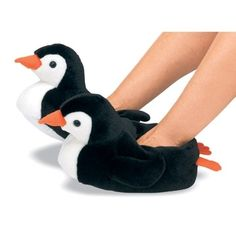 Our kids plush penguin slippers will make waddling around the house even more fun (if that were possible) than ever. Description from penguingiftshop.com. I searched for this on bing.com/images