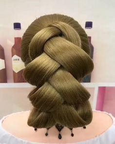 Hairdo For Long Hair, Bun Hairstyles For Long Hair, Work Hairstyles, Braided Hairstyles, Wedding Hairstyles, Hair Ponytail Styles, Curly Hair Styles, Hair Style Vedio, Hair Upstyles