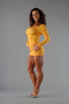 FEMALEMUSCLE TALK — My new yellow dress. I call it a quad length, do...