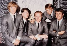 The Beach Boys in 1964.(L-R): Dennis Wilson, Brian Wilson, Mike Love, Al Jardine…