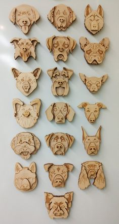Pitbull Face Laser Cut Wood Layered Dog Breed Magnet image 3 The Effective Pictures We Offer You About Dogs and Graveuse Laser, Laser Art, Laser Cut Wood, Laser Cutting, Wood Laser Ideas, Laser Cutter Ideas, Laser Cutter Projects, Wood Dog, Whittling