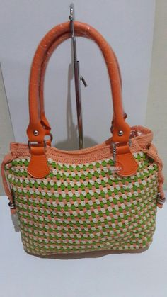 Crochet bag orange seger @manka handmade