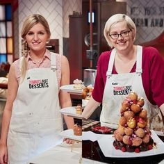 Who will win Zumbo's Just Desserts?!?Contestants Ali and Kate are stylishly outfitted in Cargo Crew Sidney Bib Aprons... https://www.instagram.com/p/BKmy4mzgwTX/?taken-by=justdessertsau
