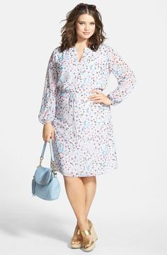 Plus Size Floral Dress