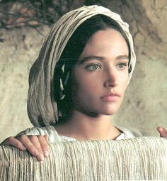 "Olivia Hussey in ""Jesus of Nazareth""  So classic and iconic.  When she holds Jesus in her arms after He has been taken down from the cross you will cry your eyes out it is so beautiful and sad"