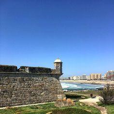 #fort #building #shore #porto #travel #instravel #nofilter #view #city #portugal #europe Monument Valley, Europe, City, Building, Instagram Posts, Nature, Travel, Porto, Naturaleza