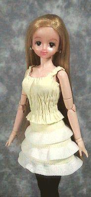 シャーリングキャミソール 「パプペポ」着せ替え人形の手作り服の作り方