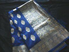 Legacy from grandmom .. blue benarasi saree