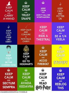 Harry Potter Keep Calm