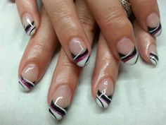 Gorgeous striped French manicure
