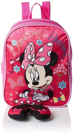 Disney Girls' Minnie Mini Backpack with Plush Feet -- Continue to the product at the image link. (This is an Amazon Affiliate link and I receive a commission for the sales)