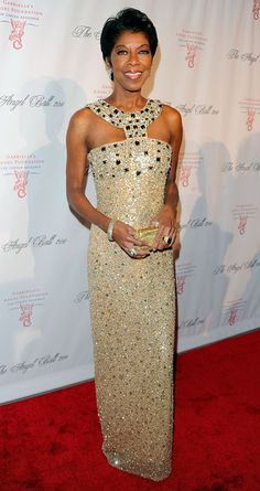 Natalie Cole Beaded Dress - Natalie Cole sparkled in a bead saturated gown with an Egyptian design at the Angel Ball. Unforgettable Natalie Cole, Maria Cole, Gone Girl, Solange Knowles, Celebs, Celebrities, Beautiful Black Women, Fashion Pictures, Celebrity Style