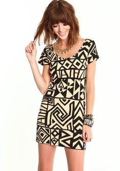 Tribal Art Deco Dress
