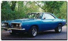 1968 Plymouth Barracuda. I seem to love most American cars built in 1967 or 1968.