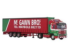 Corgi 1:50 Scania 113-143 Diecast Model Lorry - CC14801 This Scania 113-143 Curtainside (McGawn Brothers) Diecast Model Lorry is Red and Green and features working wheels and also opening trailer doors. It is made by Corgi and is 1:50 scale (approx. 35cm / 13.8in long).    McGawn Bros was founded in 1964 by David and James McGawn who were originally making wrought iron gates in a garden shed in Ayr. After a year, the Company moved to a yard in Maybole and in 1968 decided to branch into the…