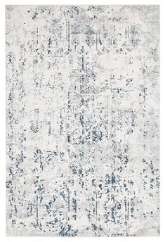We love the faded, vintage style in modern tones in this rug: Elizabeth 332 White Blue Grey Abstract Patterned Modern Rug