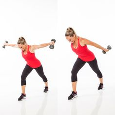 The rear fly to press back exercise targets that pesky arm jiggle.