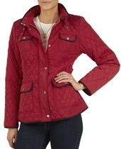Red Quilted Contrast Trim Jacket - Laura Ashley