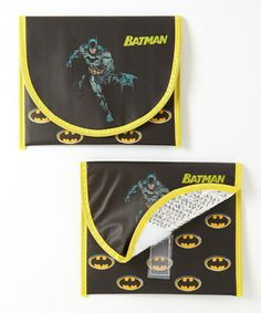 Take a look at this Black Batman Sandwich Bag - Set of Two by Shark Skinzz on #zulily today!