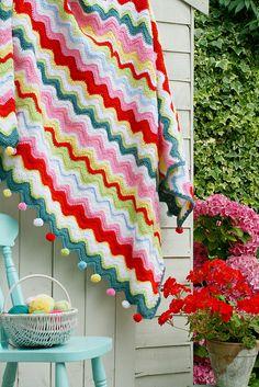 Ravelry: stripey-mooka's Summer Lovin' Blanket ✿⊱╮Teresa Restegui http://www.pinterest.com/teretegui/✿⊱╮