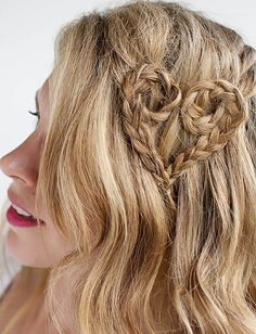 A simple heart braid makes a huge statement!