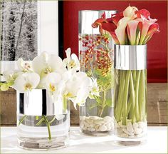 Contemporary Vases- can this be done with plain glass vases and chrome spray paint?