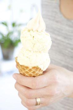 Hemmagjord vaniljglass & maränger