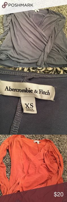 [abercrombie and fitch] BOGO long sleeve top Woman's. Very light and flowy. Soft. Size XS. Same shirt different colors. You can buy separately. Like New. BUNDLE AND SAVE. Abercrombie & Fitch Tops Tunics