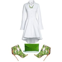A fashion look from June 2016 featuring Lands' End dresses, Dsquared2 ankle booties and Line Vautrin necklaces. Browse and shop related looks.