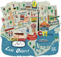Illustration of Toronto, Canada