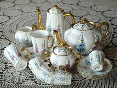 sold out / Shelley Tea set ,coffee set  Signed In Gold To Base - J.B. by ShelleyTeaRoom on Etsy https://www.etsy.com/listing/227946711/sold-out-shelley-tea-set-coffee-set