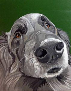 Dog Painting Custom, Pet Portrait, Pet Painting, Custom Dog Portrait, Hand Painted, From Photograph, Pet Lover Gift, Memorial Pet Portrait