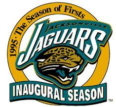 jacksonville jaguars 1995 uniforms | Jacksonville Jaguars Anniversary Logo (1995) - Jacksonville Jaguars ...