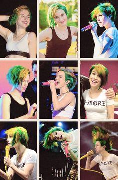 Hayley Williams + green hair: