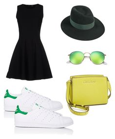 """""""Friday"""" by alegaravito on Polyvore featuring moda, Proenza Schouler, Ray-Ban, MICHAEL Michael Kors, adidas y Maison Michel"""