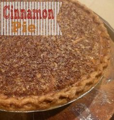 Cinnamon Pie. Perfect for Watching #Psych, or On Your Holiday Table. www.burntapple.com #pie #cinnamon