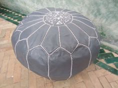 Dark grey pouf