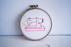 embroidering a little