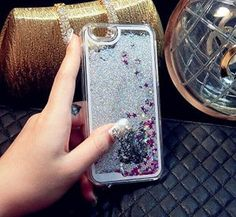Coque iPhone 5/5S, Coque iphone 6/6S, pas cher , agréable, rigide, Paillettes Silver Or Rose, housse etui coque cover cristal bling…
