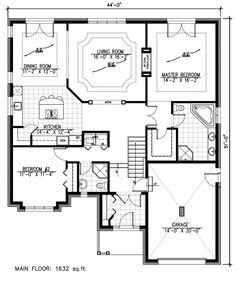 First Floor Plan of European   House Plan 48167