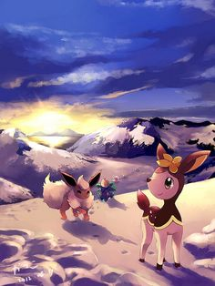 Pokemon in the Mountains
