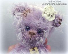 Shabby Ours d'artiste 20cm - unoursdansmamaison.com