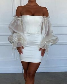 Elegant Outfit, Classy Dress, Classy Outfits, Stylish Outfits, White Fashion, Look Fashion, Mode Outfits, Fashion Outfits, Cute Short Dresses
