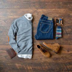 69 Ideas moda hombre casual fashion winter for 2019 Fashion Mode, Fashion Outfits, Flat Lay Fashion, Fashion Boots, Fashion Shirts, Fashion Hacks, Cheap Fashion, Fashion Styles, Fashion Rings
