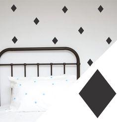 100 Percent Heart Wall Stickers - Diamonds Black Pk 41
