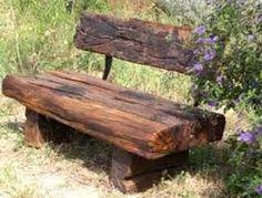 Resultado de imagen para bench made from railway sleepers