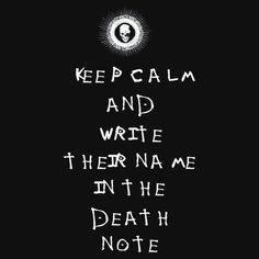 "I Recommend anime ""Death Note"" :)"