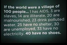 And if the world also included a village of 100 domesticated, farm, and/or feral animals living within its bounds ...